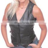 Ladies Leather Vests Art No: 1101