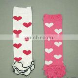 Stock! Hearts Prints Baby Lace Ruffle Leg Warmers For Saint Valentine's Day Gifts Arm Warmers Huggers