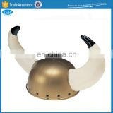 Children plastic viking helmet with horns