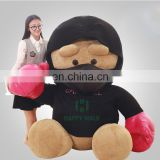 HI CE 2017 new items unbeatable huge giant boxing teddy bear with t-shirt for girlfriend