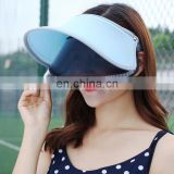 Custom plastic sun visor cap for women