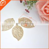sequin flower trim golden metal leaf trims for clothing