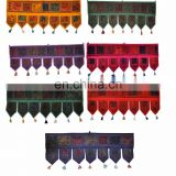 Indian-Cotton-Door-Hanging-Home-Decortive Door hanging wall Mirror Work Window Valance Topper Toran door hanging wholesale art