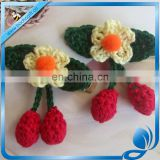 infant baby girls cute crochet cherry alligator clips
