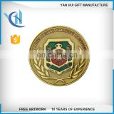 Wholesale Custom football club metal gold challenge coin for sales OEM ODM factory in China custom make double side coin