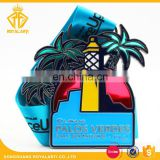Custom Transparent Half Marathon Sport Medal with Sublimated Ribbon