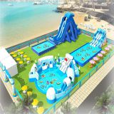 Hot sell giant inflatable commecial water park on land of the theme park for sale