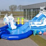 2016 0.55mm PVC anime water inflation air water slide inflatable