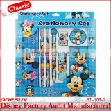 Disney factory audit manufacturer's and Cute Cartoon stationery set for kids 1411028