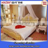 French Wedding Hand Carved Double Bed Wooden Bedroom Set Romantic Home Furniture