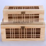 New style luxury high quality wedding Invitation fancy wooden gift box wholesale Hollow gift box packaging