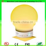China High Quality Silicone 5V 3W Hand Free Phone Call Smart Bluetooth LED Music Portable Lamp Speaker