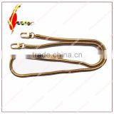 Copper Snake chains for leather bags,gold gun-metal snake chains for bags decoration,purse chains