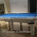 factory manufacture cheapest Billiard dining table with all wood leg