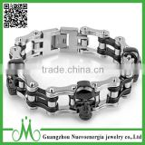 New products 2016 fashion 16mm stainless steel bike motorcycle chain bracelet 316l stainless steel Jewelry
