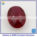lab created corundum synthetic gemstone oval ruby
