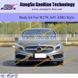 W176 A45 AMG body kit for mercedes benz A class A180 A 200