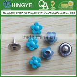 Flower Shape Zinc Alloy Cap Metal Rivets for Jeans --- RZ1412001