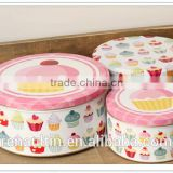 Tinplate Metal Type and for food,gift Use tin cans set