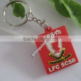 2014 shenzhen factory wholesale rubber keychain football team logo