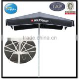 aluminium frame logo printed advertising extra large black color umbrella in square shape