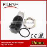 16mm momentary ring red 48V LED high flat mini pushbutton switch
