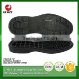 men fashion flexable black color sports rubber outsole