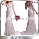mengda cheap wedding dresses 2016 long sleeve muslim evening dress ivory sexy white tight dress