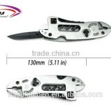 7.08'' Unique designed Multifunction stainless steel pocket outdoor hunting knives