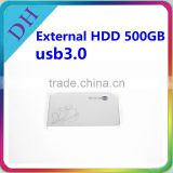 500GB 2.5'' external hard drive usb3.0 with one year warranty hdd wholesale