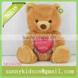 2014 toys red heart stuffed plush toys plush bear toy for stuffed toys