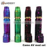 Best selling product e ciagrette mech mod camo av mod kit clone with best price