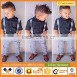 Good Quality 2 PCS Baby Boy Long Sleeve Plaid Shirt with Jeans Baby Clothing
