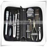 31PCS best-selling Household Hardware Tool Kit mutifuctional tool set business promotional tool kit in PU zipper pouch HW04016