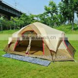 New Style 2 Room 2 Door Big Family Double Layer 8 Person Tent
