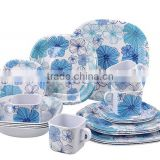 Custom printed melamine baby dishes bowls tableware set