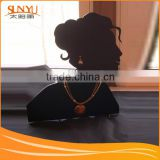 5mm Black Acrylic Jewelry Necklaces Bust Display