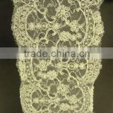 beads and cords french Lace Trims wholesale /Triming for wedding dress embroidery beads trimming lace