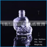 skull glass liquid bottle for smoking oil.skull glass liquid perfume bottle,skull glass dropper bottle.