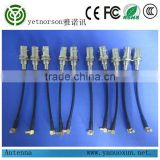 Yetnorson rf coaxial cable with RG 179 cable rf cable assembly right angle MCX and BNC Q9 connectors