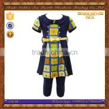 The a-line skirt girls fashion Middle east metal belt around his waist Arabic kids clothing nightwear