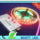 ws2811 led strip magic dream color;60leds/m;4m/roll;DC5V input;White PCB;waterproof silicon tube IP67