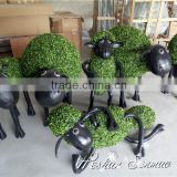 theme park plastic animal artificial topiary frame animal artificial sheep garden sculpture for garden ornaments