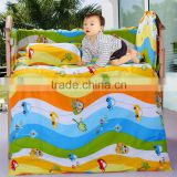 100% cotton comfortable made in China colorful cartoon printed crib bedding set for babies and kids