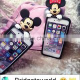 Cute 3D Soft Rubber Silicon Cartoon Case Peeping Micky Mouse Case model for apple iphone 6 6S 6PLUS phone shell