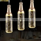 Beer Bottles Shaped 220V LED Pendant Lamp Aluminum Alloy Contemporary Pendant Bubble Light