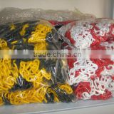 Colored plastic chain, Road Safety Plastic Barricading Chain