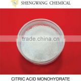 factory citric acid anhydrous/citric acid monohydrate price food grade