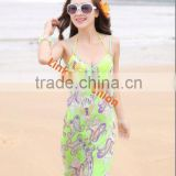 Hot sale new style wholesale magic wrap skirt silk sarong pareo beach magic wrap skirt