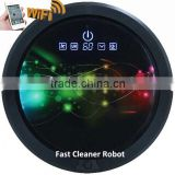 Smartphone app WIFI robot vacum cleaner with 150ML water tank for wet and dry cleaning